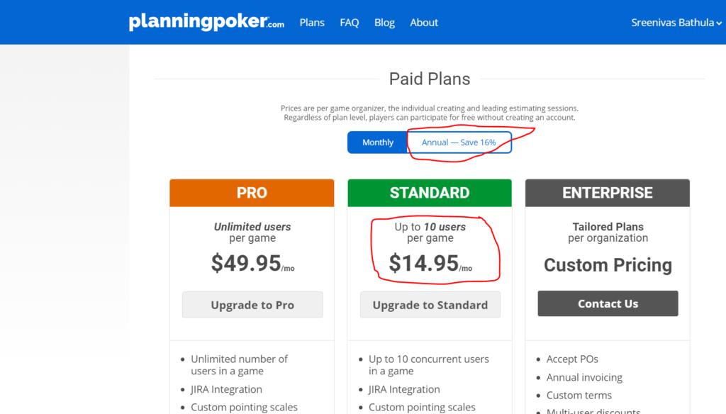 Planning Poker Tool Online
